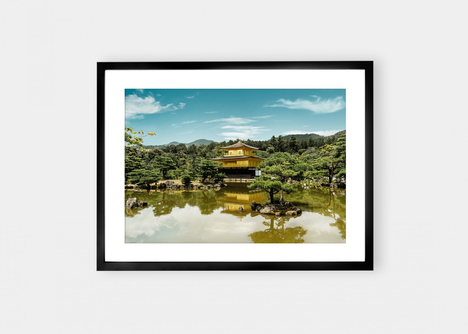 Kinkaku-Ji Tempel Kunst | Fotokunst printet på Fine Art kunstpapir